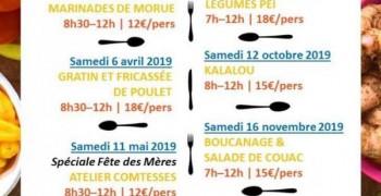 Atelier culinaire de l'Association de Tous les Ages du Maroni (28/9)