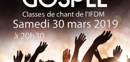 Concert de gospel traditionnel et moderne (30/3)